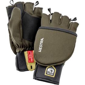 Hestra Windstopper Pullover Handsker, oliven/sort